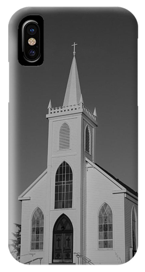 Saint Teresas Church IPhone X Case featuring the photograph St. Teresa's Bodega Bay 2 by Remy Gervais