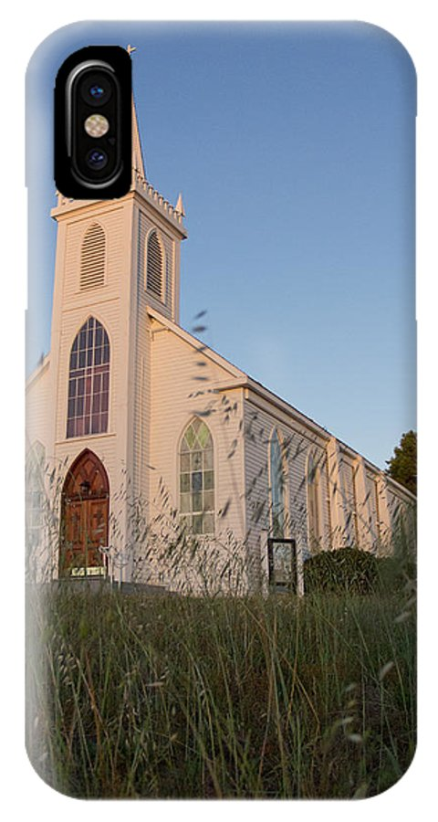 Saint Teresas Church IPhone X Case featuring the photograph St Teresa's Bodega Bay 3 by Remy Gervais