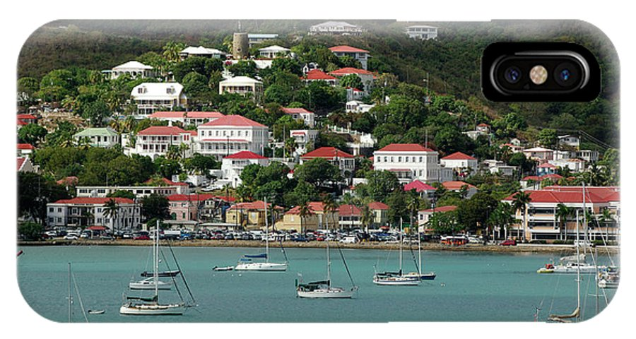 Bay IPhone X Case featuring the photograph St. Thomas by Christian Heeb