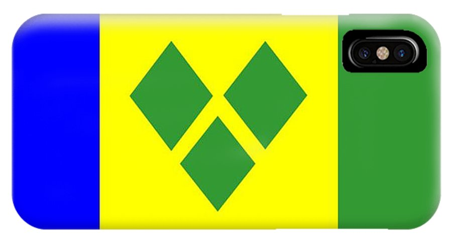 St. Vincent IPhone X Case featuring the digital art St. Vincent Flag by Frederick Holiday