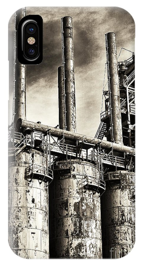 Stacks Of Steel IPhone X Case featuring the photograph Stacks Of Steel by John Rizzuto
