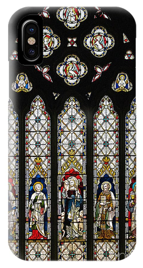 St Margaret's Church IPhone X Case featuring the photograph Stained-glass Window 1 by Susie Peek