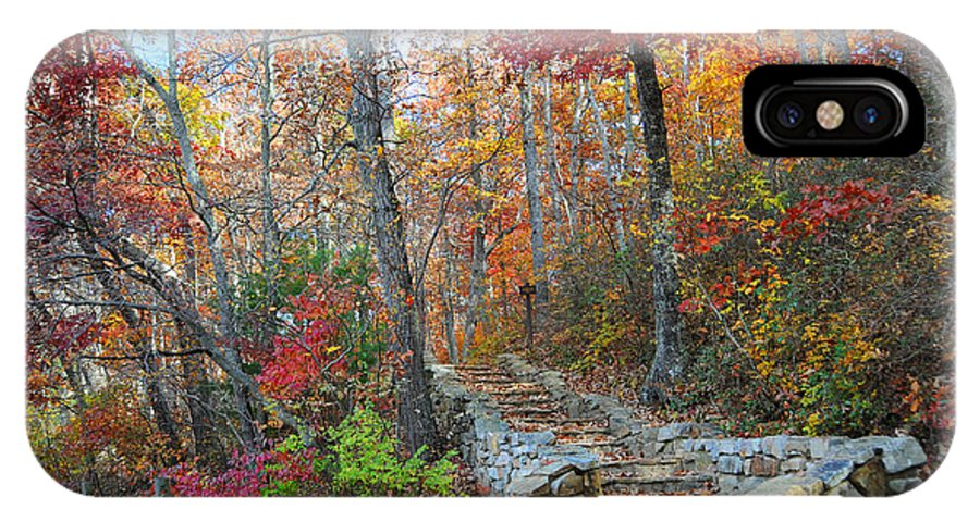 Autumn IPhone X Case featuring the photograph Staircase To Fall by Lynn Bauer