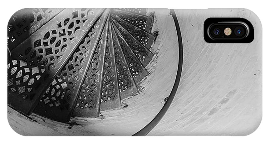 Usa IPhone X Case featuring the photograph Stairs At The Fort Gratiot Light House by LeeAnn McLaneGoetz McLaneGoetzStudioLLCcom