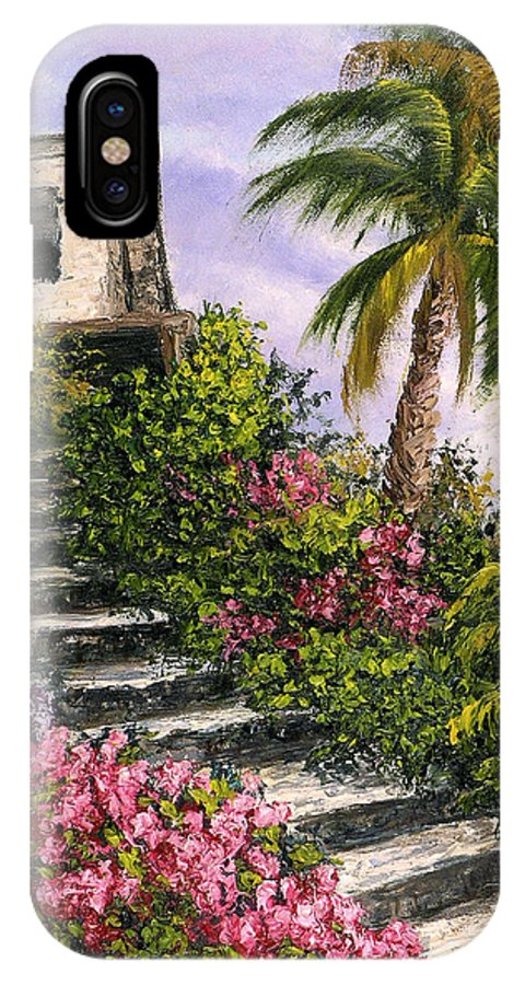 Mexico IPhone Case featuring the painting Stairway Garden by Darice Machel McGuire