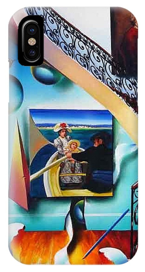 Sureal IPhone X Case featuring the painting Stairway To The Masters II by Ferjo