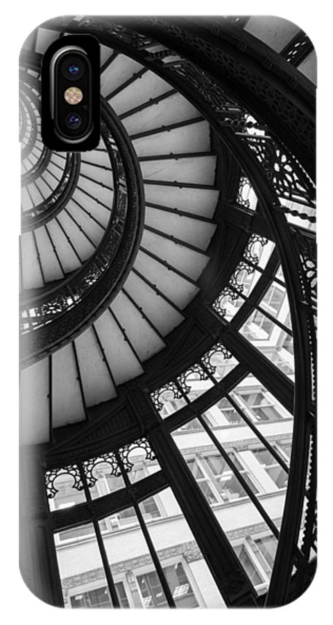 Rookery IPhone X Case featuring the photograph Stairwell The Rookery Chicago Il by Steve Gadomski