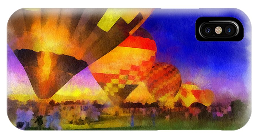 Hot IPhone X Case featuring the photograph Standbye To Launch Hot Air Balloons Photo Art by Thomas Woolworth