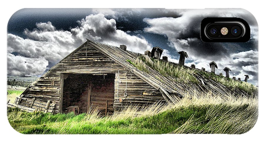 Potato Shed IPhone X Case featuring the photograph Standing Against The Storm by Ray Finch