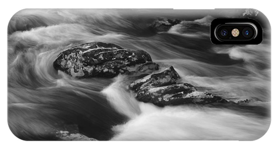 River IPhone X Case featuring the photograph Standing Firm by Christopher M Stewart