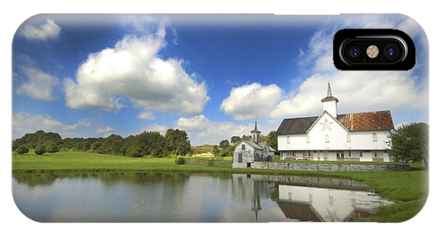 Star Barn IPhone X Case featuring the photograph Star Barn And Pond by Paul W Faust - Impressions of Light