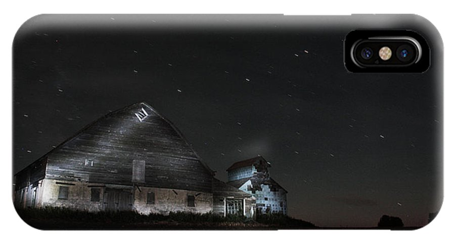 Red Barns IPhone X Case featuring the photograph Star Barn by David Matthews
