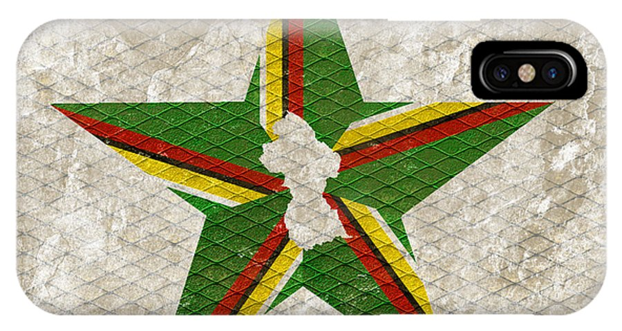 Guyana IPhone X Case featuring the digital art Star by Mark Khan
