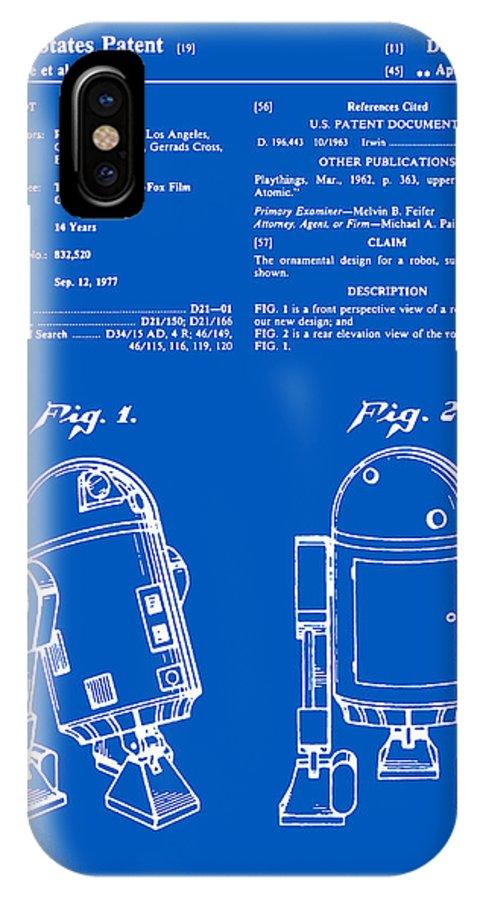 Star Wars R2d2 Patent - Blueprint IPhone X Case
