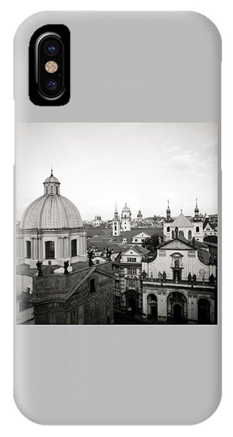 Prague IPhone X Case featuring the photograph Serene Prague by Shaun Higson