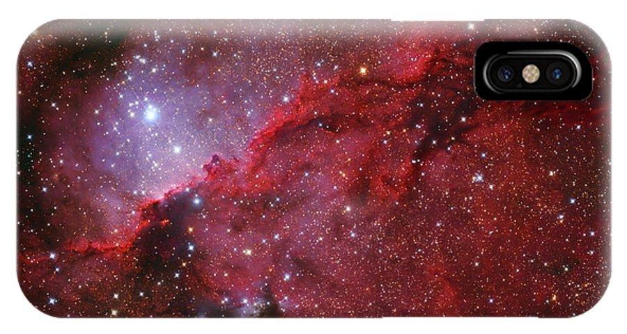 Horizontal IPhone X Case featuring the photograph Starforming Emission Nebula Ngc 6188 by Lorand Fenyes