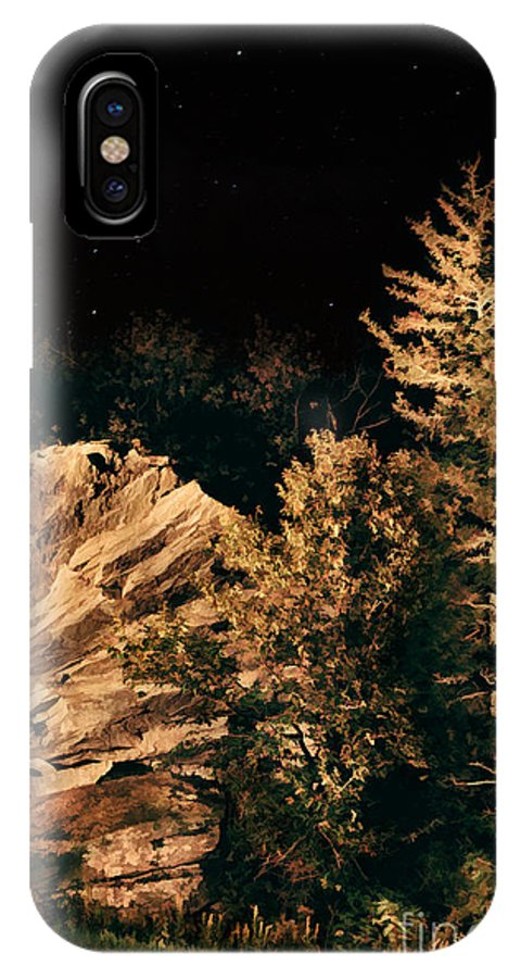 Blue Ridge Parkway IPhone X / XS Case featuring the painting Starry Night In The Blue Ridge by Dan Carmichael