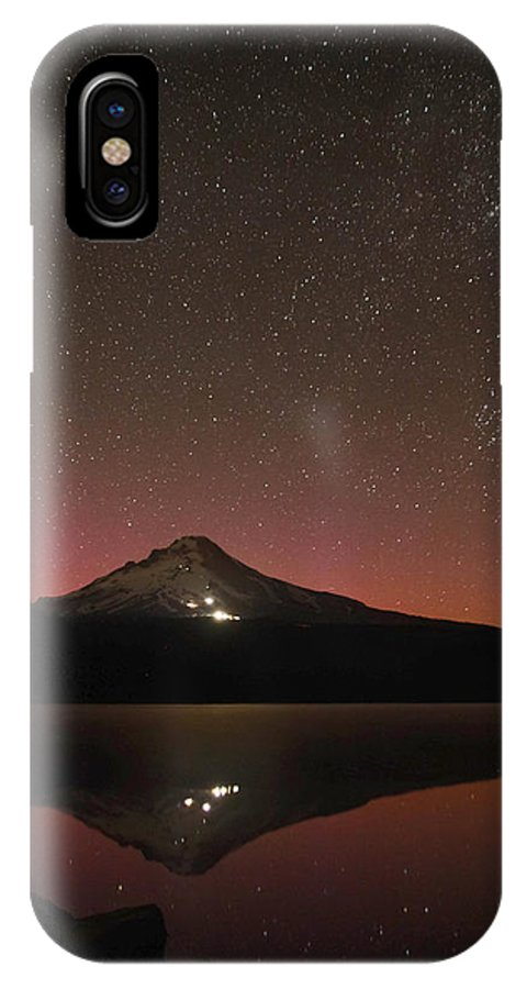 Aurora IPhone X Case featuring the photograph Stars Above The Hood by Tahnee-Wesley Grant