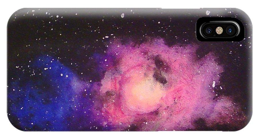 Galaxy IPhone X Case featuring the painting Start Of Something New by Eliska Jelinkova