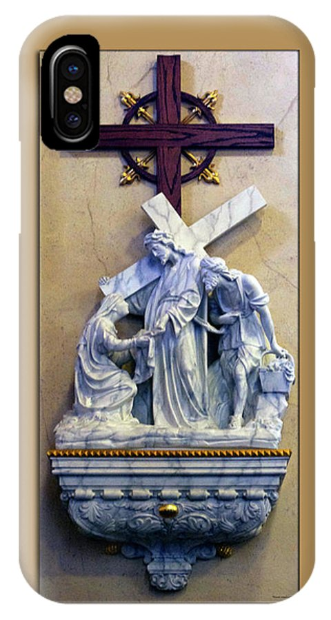 Statue IPhone X Case featuring the photograph Station Of The Cross 06 by Thomas Woolworth