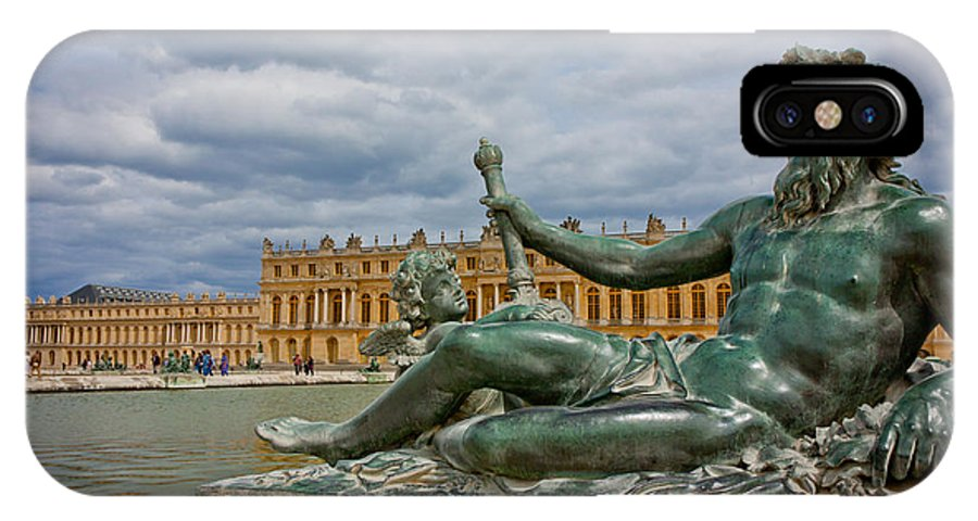 Paris IPhone X Case featuring the photograph Statue In Front Of Versailles by Anthony Doudt