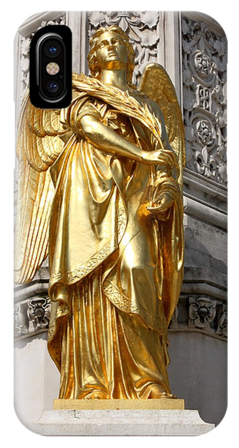 Angel IPhone X Case featuring the photograph Statue Of Angel2 by Borislav Marinic