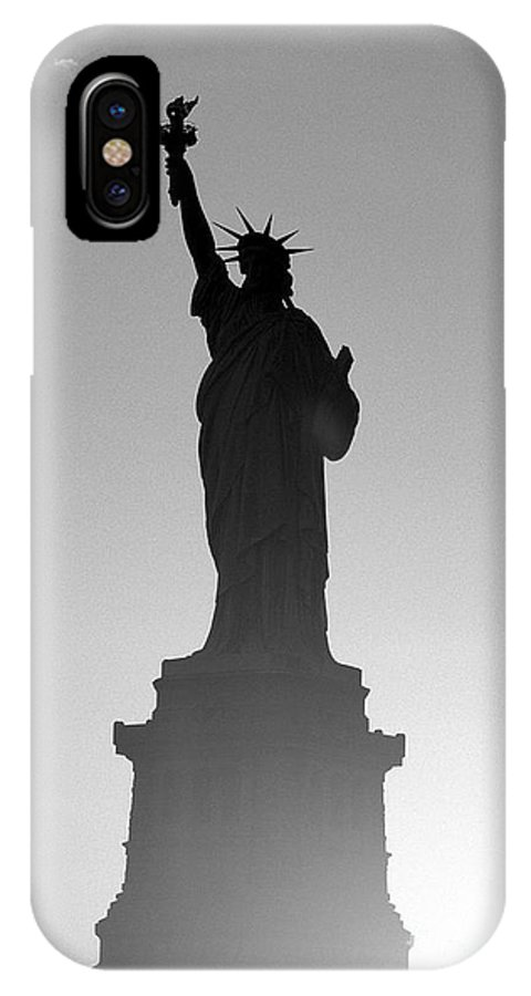 Statue Of Liberty IPhone X Case featuring the photograph Statue Of Liberty by Tony Cordoza