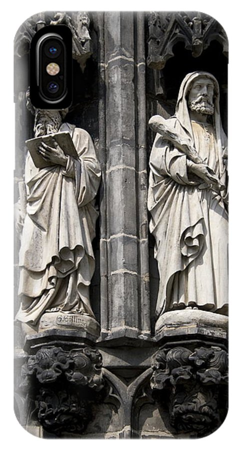 Statues Of The Cathedral Of Aachen IPhone X Case featuring the photograph Statues Of The Aachen Cathedral Germany by Ronald Jansen