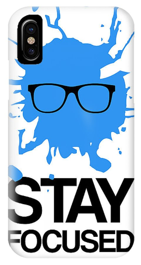 IPhone X Case featuring the digital art Stay Focused Splatter Poster 2 by Naxart Studio