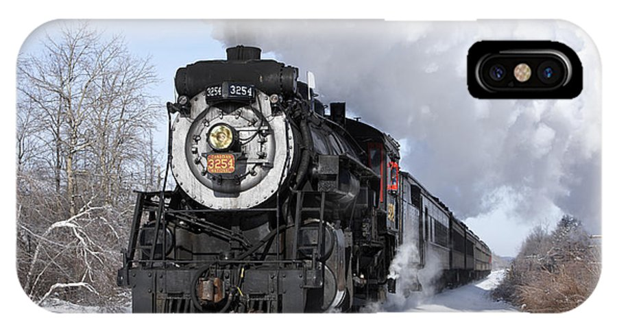 Railroads IPhone X Case featuring the photograph Steam At Tobyhanna by Daniel Troy