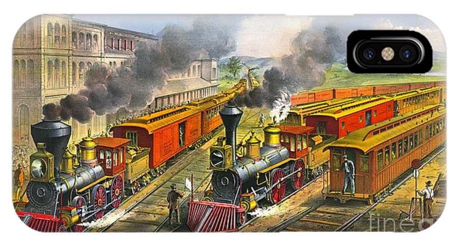 Steam Locomotives 1874 IPhone X Case featuring the photograph Steam Locomotives 1874 by Padre Art