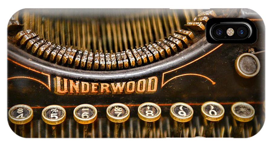 Paul Ward IPhone X Case featuring the photograph Steampunk - Typewriter - Underwood by Paul Ward