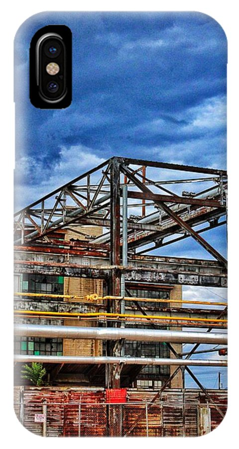 Clouds IPhone X Case featuring the photograph Steel And Turmoil by Sarah Neal