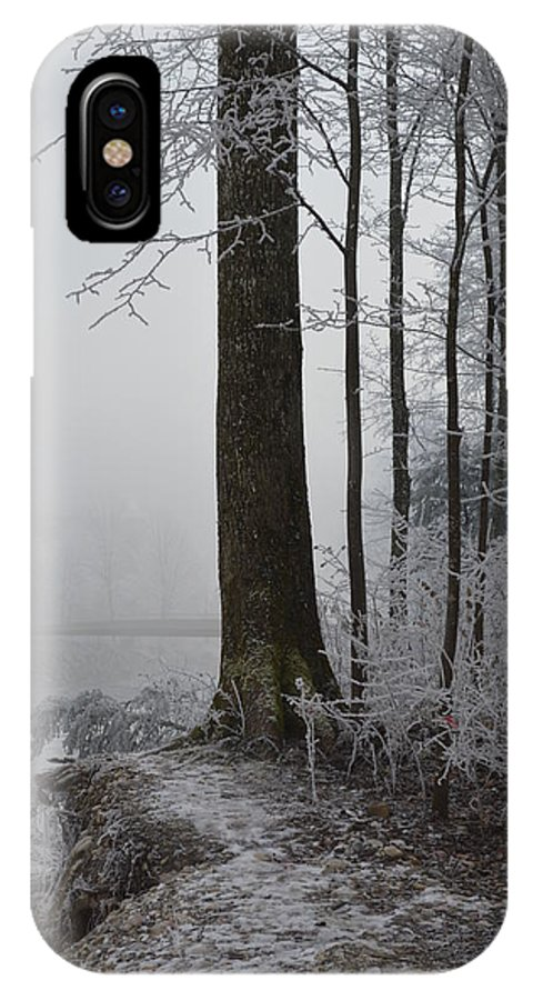 Landscape IPhone X Case featuring the photograph Steep And Frost by Felicia Tica