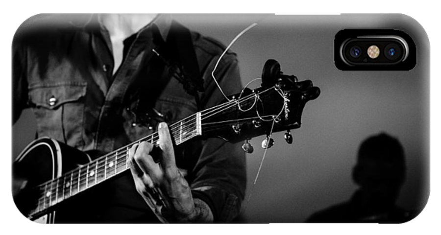 Guitar IPhone X / XS Case featuring the photograph Stella Burns In Concert by Andrea Mazzocchetti