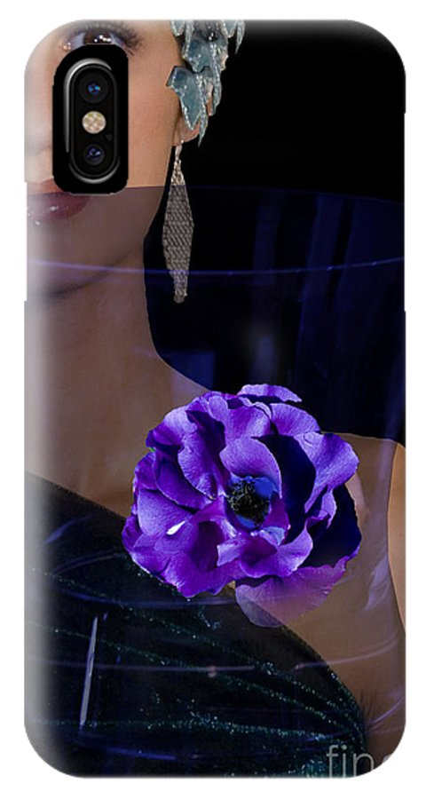 Faces IPhone X Case featuring the digital art Stephany by Angelika Drake