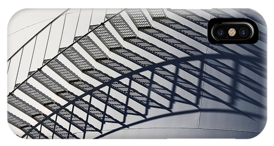 Shadow IPhone X Case featuring the photograph Steps And Shadow On Tank by Robert Woodward