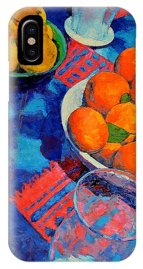 Still Life IPhone X Case featuring the painting Still Life 2 by Iliyan Bozhanov