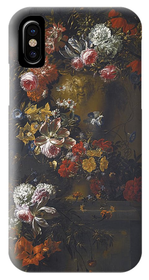 Jan Baptist Bosschaert IPhone X Case featuring the painting Still Life Of Roses by Celestial Images