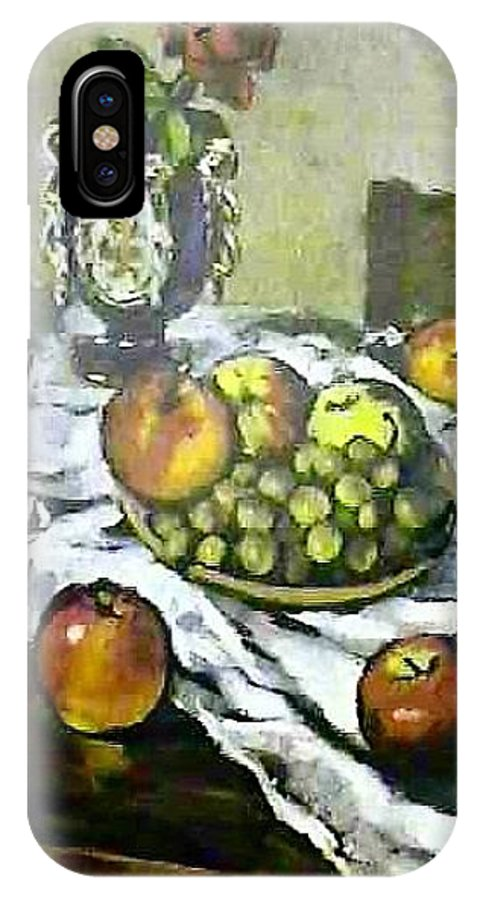 Still Life IPhone X Case featuring the painting Still Life with Apples by Steven Casey