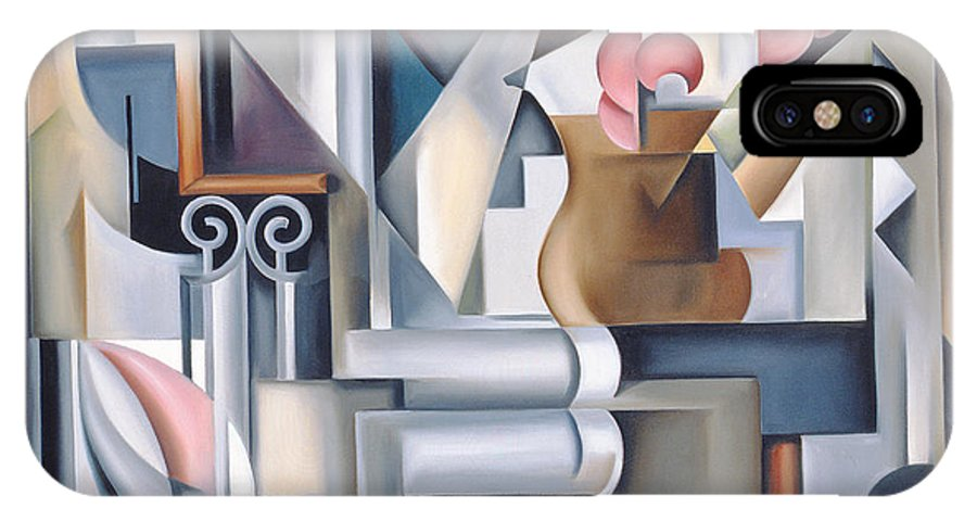 Still IPhone X Case featuring the painting Still Life With Brown Jug by Catherine Abel