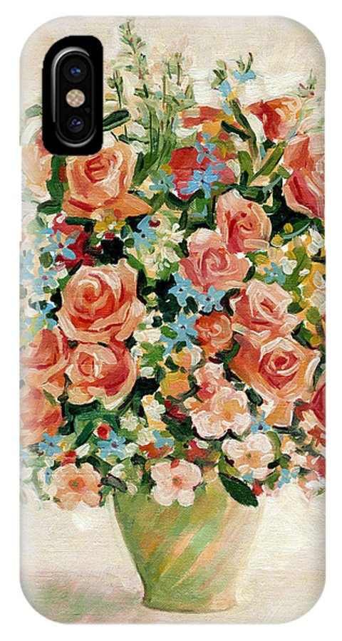 Flowers IPhone Case featuring the painting Still Life With Roses by Iliyan Bozhanov