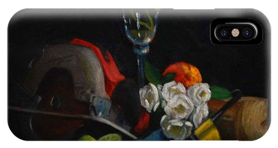 Impressionism IPhone X / XS Case featuring the painting Still Life With Skillsaw by Philip Foss