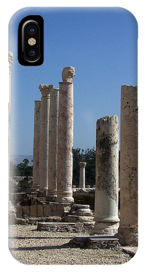 Israel IPhone X Case featuring the photograph Still Standing by Kathy McClure