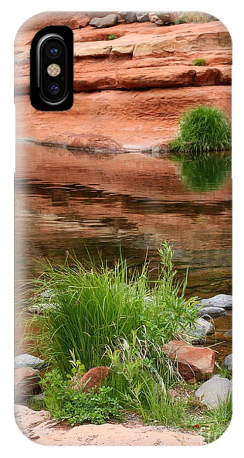 Sedona IPhone X Case featuring the photograph Still Waters At Slide Rock by Carol Groenen