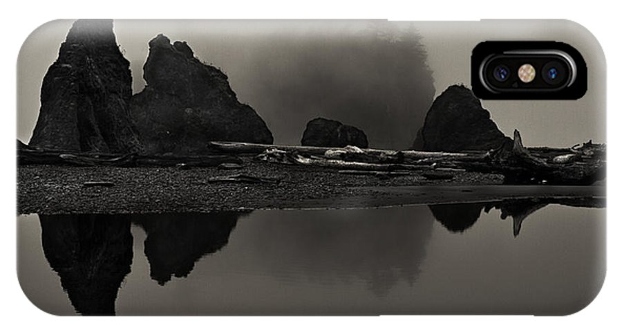 Beach IPhone X Case featuring the photograph Stillness At Ruby Beach by Robert Woodward