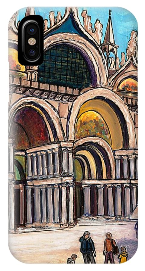 Tmgand IPhone X Case featuring the painting St.mark's Square by TM Gand