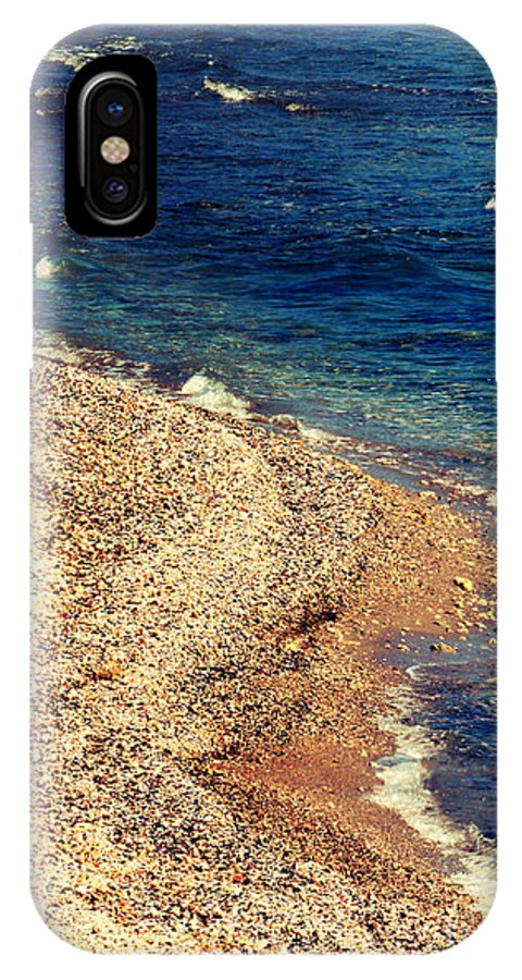 Beach IPhone X Case featuring the photograph Stone And Water by Gabriela Insuratelu
