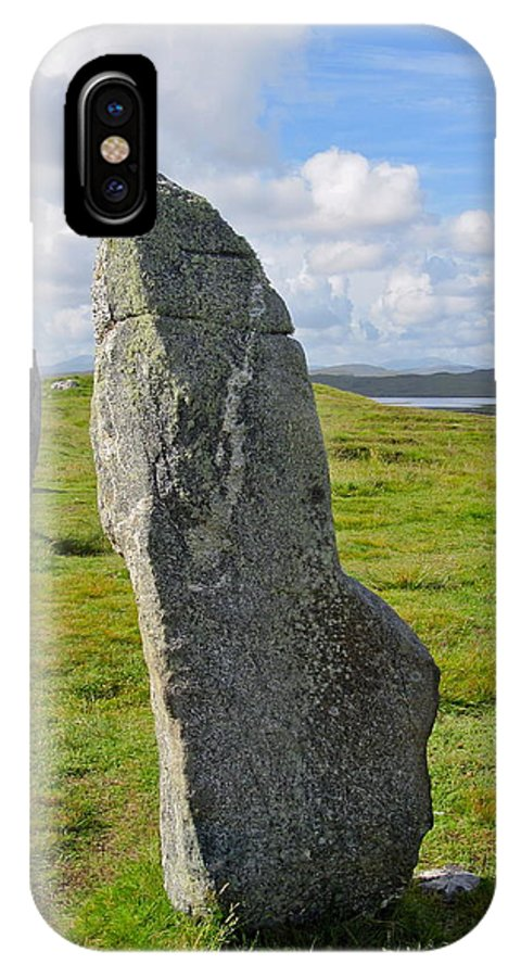 Callanish IPhone X Case featuring the photograph Stone At Callanish IIi by Denise Mazzocco
