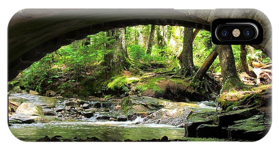 Stone Bridge IPhone X Case featuring the photograph Stone Bridge II by Elizabeth Dow